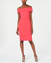dd69bc23 Calvin Klein Off-The-Shoulder Sheath Dress
