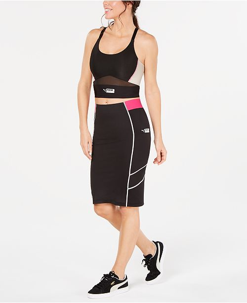 Puma Cropped Tank Top & Pencil Skirt