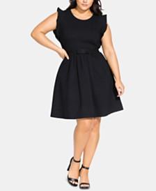 City Chic Trendy Plus Size Cutie Bow Dress