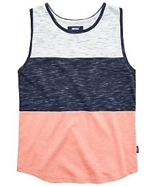 Univibe Big Boys Salvator Pieced Colorblocked Tank