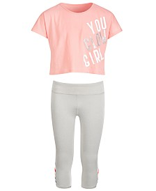 Ideology Big Girls Crop T-Shirt & Cage Capri Leggings, Created for Macy's