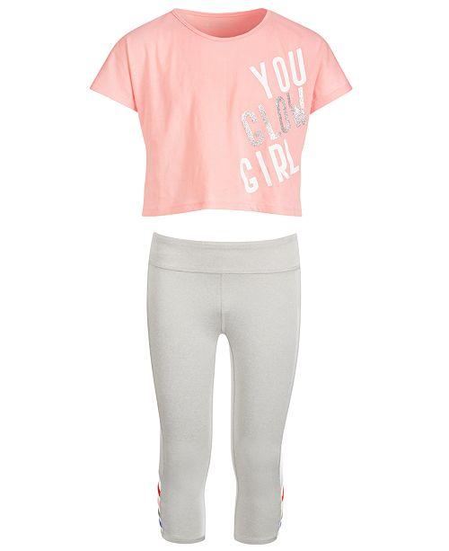 Ideology Big Girls Crop T-Shirt & Cage Capri Leggings, Created for Macy's