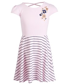 Epic Threads Little Girls Striped Floral-Print Dress, Created for Macy's