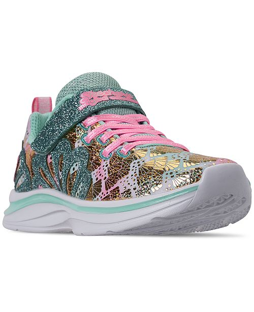 Skechers Little Girls' Double Dreams - Mermaid Music Casual Sneakers from Finish Line