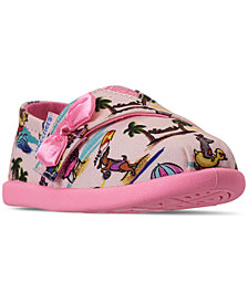 Skechers Toddler Girls' Lil' BOBS Solstice 2.0 Playa Pups Slip-On Casual Sneakers from Finish Line
