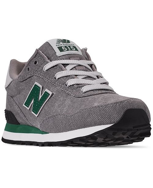 New Balance Boys' 515 Spring Canvas Casual Sneakers from Finish Line