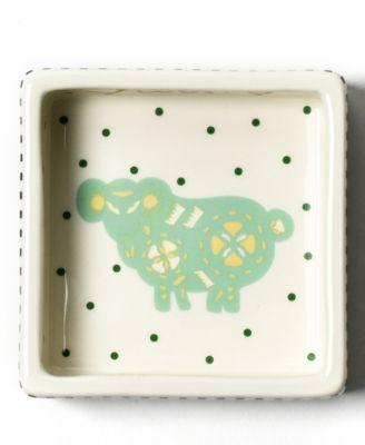 by Laura Johnson Chinese Zodiac Ram Square Trinket Bowl