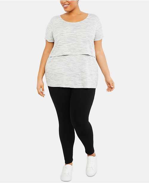 Motherhood Maternity Plus Size Post-Pregnancy Leggings
