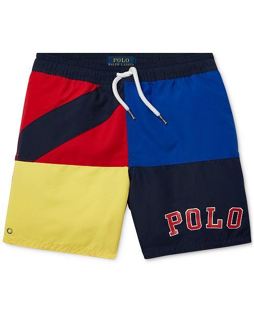 66d257a0fbeff Polo Ralph Lauren Toddler Boys Colorblocked Swim Trunks & Reviews ...