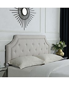 Kelsey Ivory Linen Headboard Full/Queen