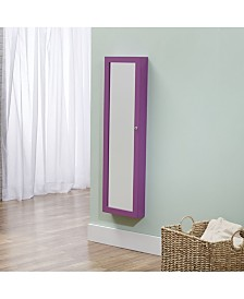 FirsTime & Co.® Mirrored Jewelry Armoire - Purple