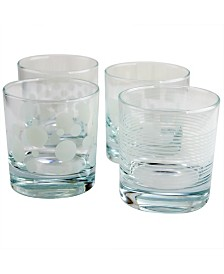 Pasabahce Trend 4 Piece 10.25 Ounce Old Fashioned Glass Set
