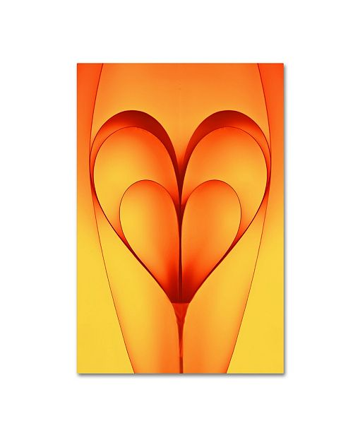 "Trademark Innovations Nilesh J Bhange 'The Bounded Hearts' Canvas Art - 19"" x 12"" x 2"""