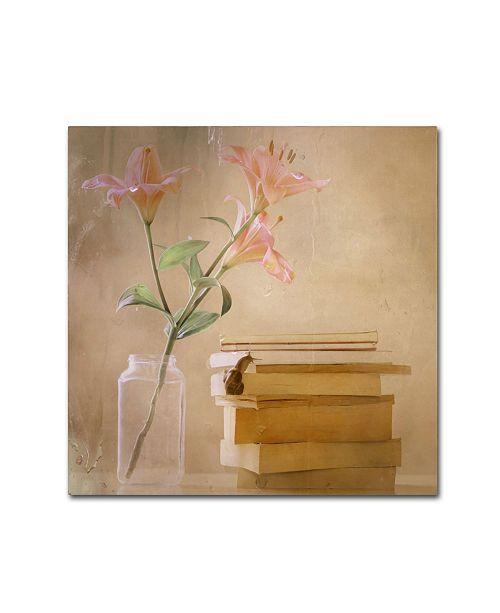 "Trademark Global Delphine Devos 'Slowly But Surely' Canvas Art - 24"" x 24"" x 2"""