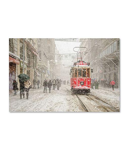 "Trademark Global Murat Bakmaz 'Beyoa Lu' Canvas Art - 24"" x 16"" x 2"""