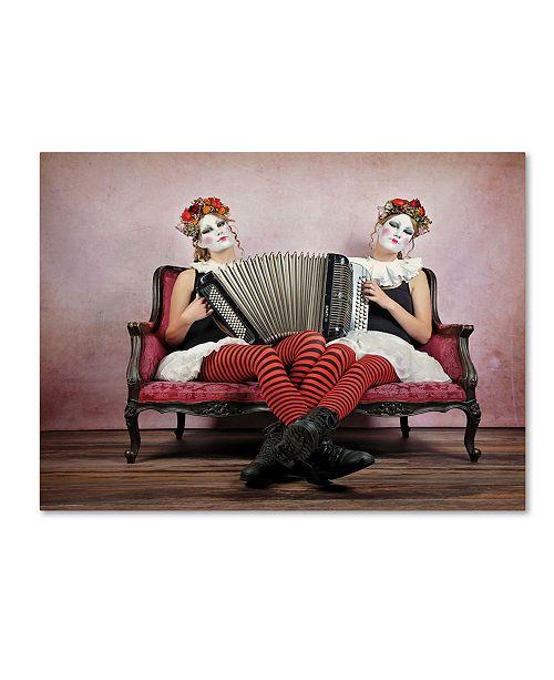 "Trademark Global Monika Vanhercke 'Twins' Canvas Art - 32"" x 24"" x 2"""