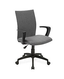 Grey Linen Apostrophe Office Chair