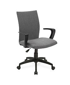 Leick Home Grey Linen Apostrophe Office Chair