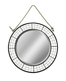 Black Woven Metal Mirror
