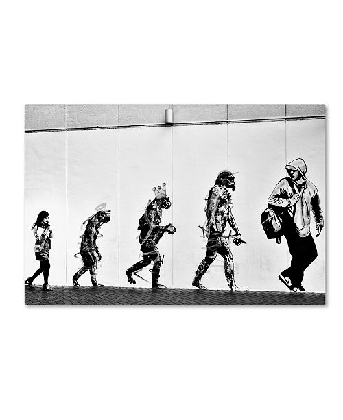 "Trademark Global Tatsuo Suzuki 'Evolution' Canvas Art - 32"" x 22"" x 2"""