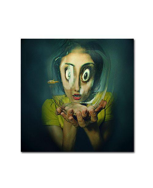 "Trademark Global Inga Ivanova 'Bubblehead' Canvas Art - 35"" x 35"" x 2"""