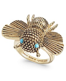 Gold-Tone Stone Bee Statement Ring