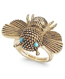 Kate Spade New York  Gold-Tone Stone Bee Statement Ring