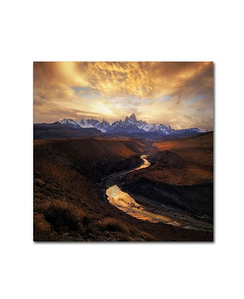 "Trademark Global Yan Zhang 'View From The Gorge' Canvas Art - 35"" x 35"" x 2"""