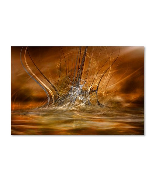 """Trademark Global Willy Marthinussen 'The Rising' Canvas Art - 24"""" x 16"""" x 2"""""""