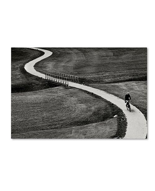 "Trademark Global Michele Martinelli 'Along A Line' Canvas Art - 19"" x 12"" x 2"""