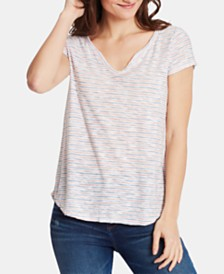 WILLIAM RAST Cooper Striped Henley T-Shirt