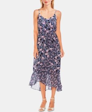 Vince Camuto Dresses FLORAL-PRINT RUFFLED-HEM DRESS