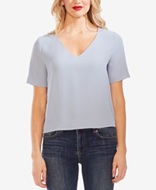 Vince Camuto V-Neck Textured Top
