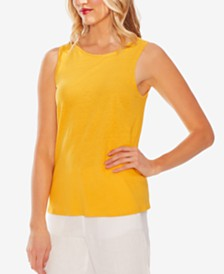 Vince Camuto Twist-Back Knit Tank Top