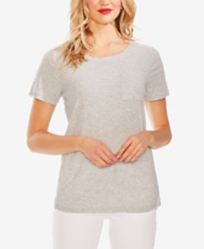 Vince Camuto Striped-Back T-Shirt