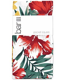 Bar III Men's Bartlett Floral Pocket Square, Created for Macy's