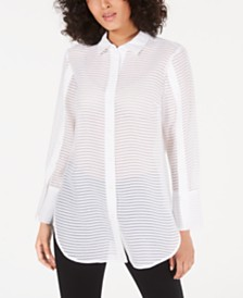 Alfani Sheer Textured Shirt, Created for Macy's