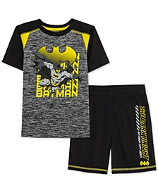 Little Boys Batman Gotham City Hero Of The Night 2-Pc. T-Shirt & Shorts Set