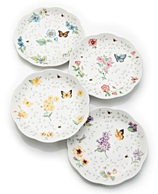 Set of 4 Butterfly Meadow Petite Assorted Dessert Plates