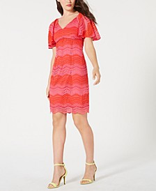 Lace Flutter-Sleeve Sheath Dress, Created for Macy's