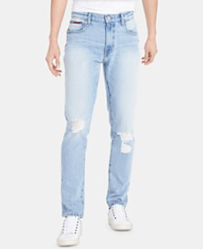 Tommy Hilfiger Men's Skinny-Fit TH Flex Stretch Distressed Jeans, Created for Macy's