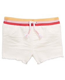 Baby Girls Striped Waist Denim Shorts, Created for Macy's