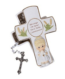 Blessings On Your First Holy Communion Box With Rosary, Girl
