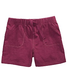 First Impressions Toddler Boys Knit Jogger Shorts, Created for Macy's