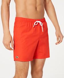 "Lacoste Men's Solid Mid Length 6.5"" Swimsuit"
