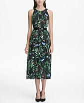 1d72633f178 Tommy Hilfiger Floral-Printed Belted Halter Midi Dress