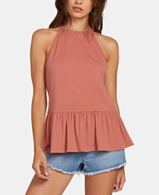 Volcom Juniors' Ruffled Racerback Tank Top