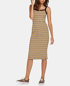 Volcom Juniors' Striped Bodycon Tank Dress