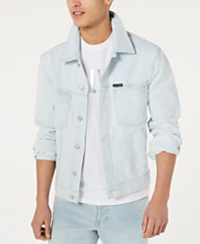 Calvin Klein Jeans Men's Classic Denim Trucker Light Wash Jacket
