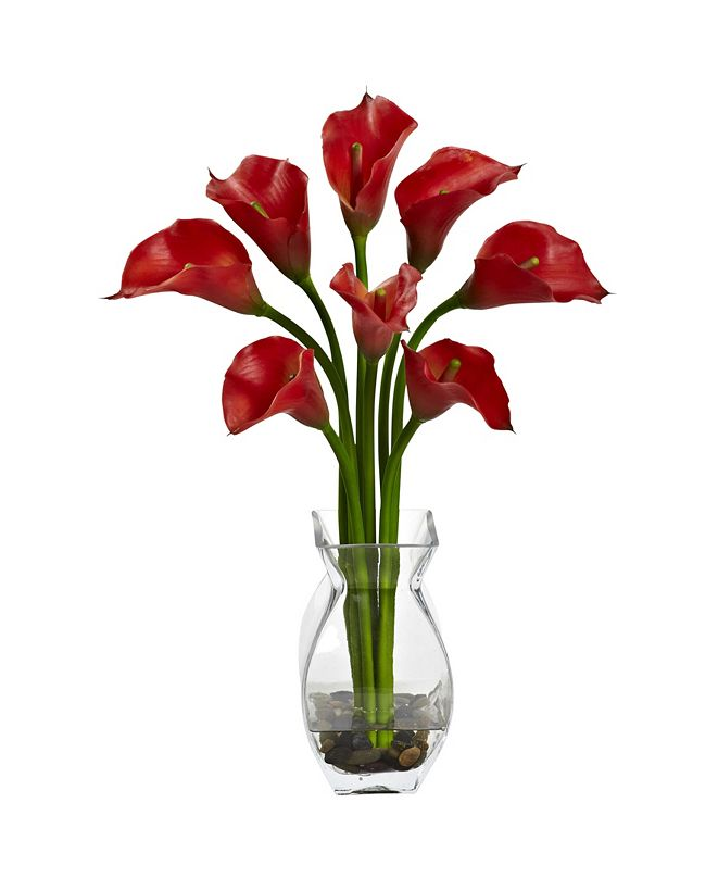 Nearly Natural Classic Calla Lily Arrangement